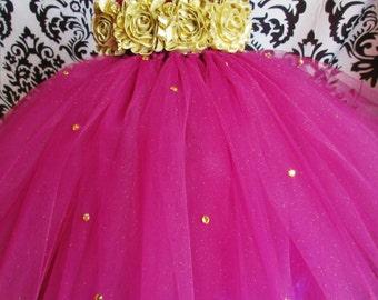 Wine Burgundy Tutu Dress/Gold Tutu/Gold Dress/Burgundy Holiday tutu/Christmas Tutu/Girls Dresses/Baby Girl Clothing/Tutu Dress/Holiday Dress