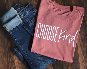 Choose Kind Shirt - Choose Kind t-shirt - Teacher Shirt - Wonder Shirt - Inspirational tshirt - Teacher T-shirt - Kindness Shirt - Mom tee