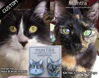 CUSTOM PET EARRINGS Dog Cat Animal Custom Resin Jewelry Resin Earrings Stud Earrings Post Custom Jewelry Custom Accessories Custom Gift Idea