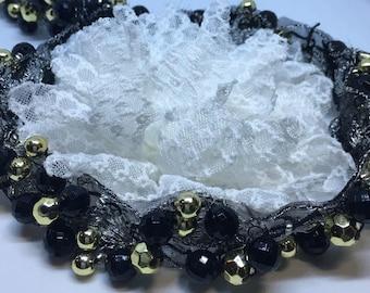 Lace Headband, Baby Headband, Pearl Headband, Lace Headband, Vintage Headband, Victorian Headband