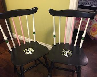 Beautifully redone kitchen chairs