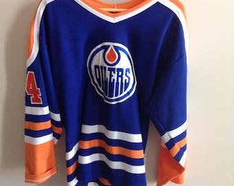 Vintage Edmonton Oilers jersey - #34 - MEDIUM - 90's - Maska Ultrafil