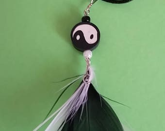 Yin Yang Feather Necklace