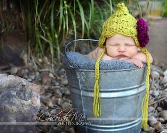 Knit Baby Bonnet for Newborn Girls