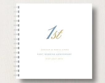 Personalised 1st Paper Anniversary Memories Book or Album