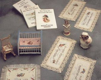 Green Apple Beatrix Potter MINIATURES Counted Cross Stitch Book, PDF (Chart and Key ONLY)