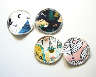 reusable nursing pads, postpartum pads, breast pads, reusable cotton rounds, breastfeeding, baby shower gift, new mom gift
