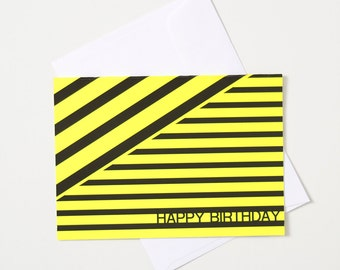 Greeting Card - Fluro / Stripe