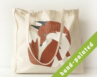 fox purse, fox bag, fox tote bag, Cotton tote bag, Eco bag, tote bag, fox, canvas bag, fox bag, fox tote bag, fox purse, fox tote