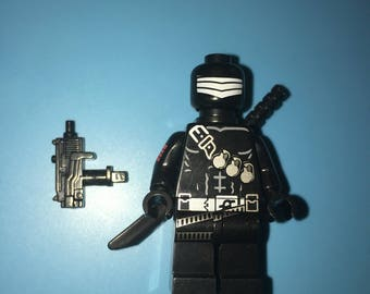 Gi Joe SNAKE EYES Ninja Master Cobra Comic Book Tv Cartoon Minifigure