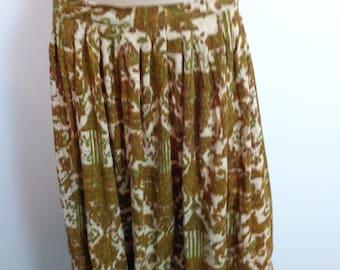 VINTAGE handmade retro skirt, Flow Skirt, Vintage Skirt mid century,flow skirt lovely, Earthy Skirt, Handmade Skirt Vintage, Vintage Skirt