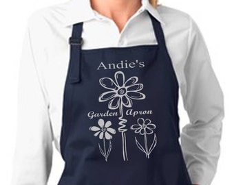 Garden Apron, Personalized Gifts, Gifts for Her, Gardening Apron, Personalized Apron, Gifts for Him, Valentine Gift, Gardening Gifts