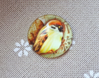 Bird needle minder for cross stitching/embroidery