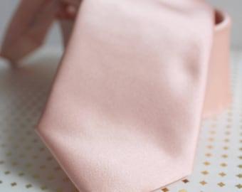 Blush Pink Satin Neck Tie
