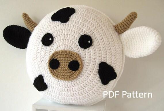 Cow Pillow Cushion Crochet Pattern Crochet Patterns For
