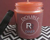 Twin Peaks inspired Cherry pie and coffee scented soy wax candle