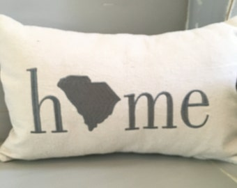 State embroidered pillow