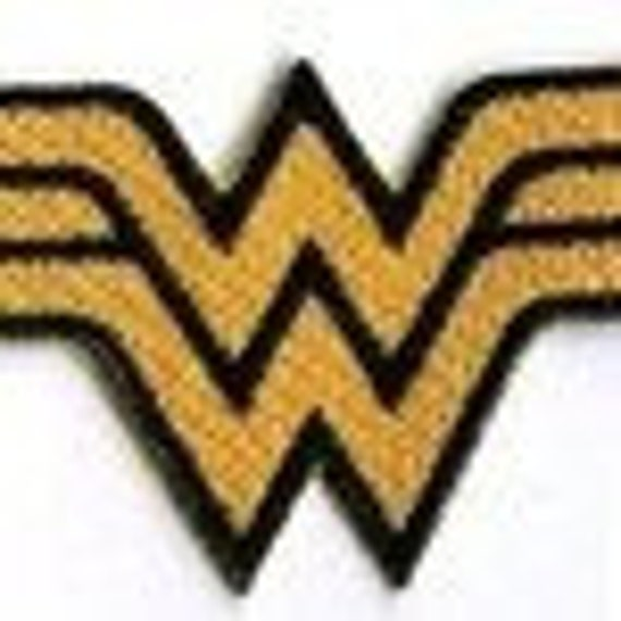 wonder woman patch black and gold