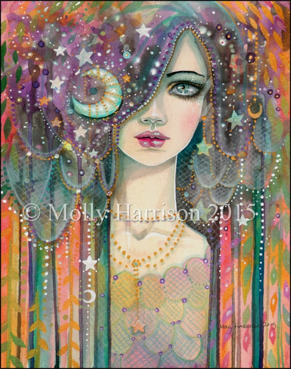 Galaxy Girl Bohemian Girl Gypsy Celestial Molly Harrison