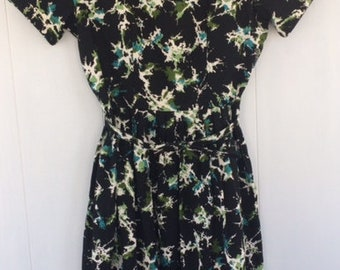 FLORAL 1960's Swing Style Dress by Kay Whitney