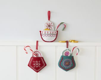 Christmas Pocket Decoration Instant download Pattern