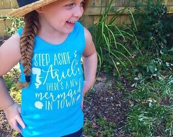 Step Aside Ariel There's a New Mermaid in Town - Mermaid Bodysuit, Tank Top or Tshirt