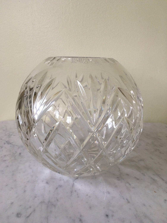 Vintage lead crystal rose bowl hand cut crystal vase pineapple zoom reviewsmspy