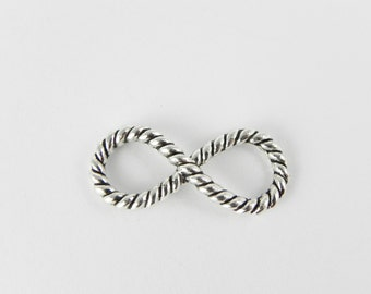 10 Infinity Connector Links in Antique Silver - 29mm x 13mm