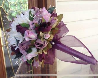 CUSTOM Bouquet, Bridesmaid Bouquet, Wedding Decorations, Bride Bouquet, Silk Flower Bouquet, Keepsake Bouquet, Silk Wedding Flowers