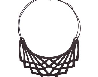 Handmade Geometric Vegan Inner Tube Necklace - Sustainable, Eco Friendly and Contemporary Necklace