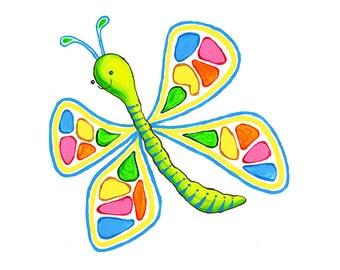 Paint Palette Butterfly - Large (Unframed)