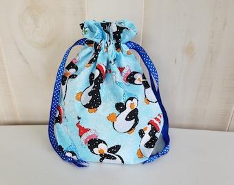 Sock Project Bag: Penguins