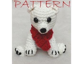 Polar Bear Crochet Christmas Ornament