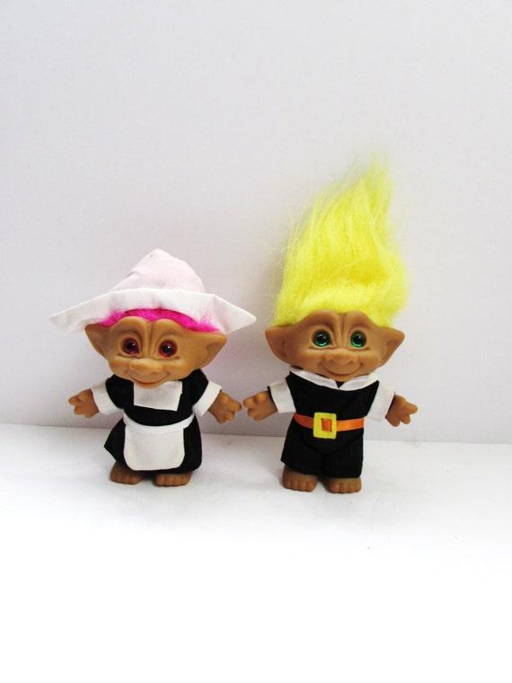 ace novelty pilgrim thanksgiving treasure troll dolls 5
