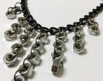 Dripping Diamond Hex Necklace