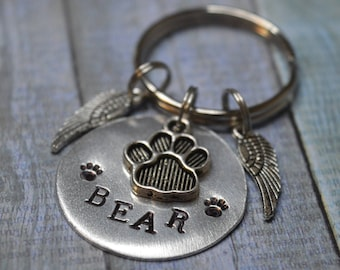 Pet Memorial Keychain, Pet Memorial, Pet Loss Gifts, Pet Loss, Dog Memorial, Cat Memorial, Pet Remembrance, Pet Memorial Gift, Memorial, Paw