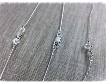Sterling Silver Chain; Snake Chain; Pendant Chain; 16 inch Chain; 18 inch Chain