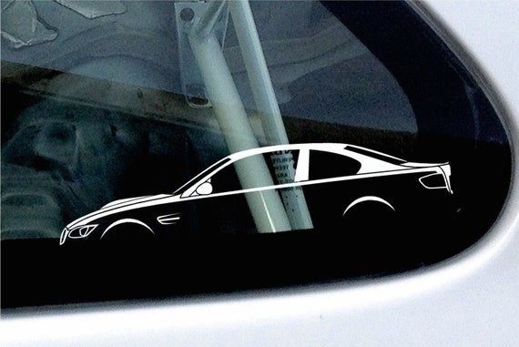 2X Car Silhouette Stickers For BMW M3 E92 Coupe