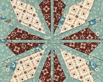 Aran Star - Paper Piecing
