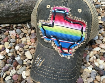Serape Texas Trucker Hat, Fiesta Serape Hat, Texas Trucker Hats, Denim Trucker Hat, Texas Hat, Texas/Baseball Hat, Texas Hats