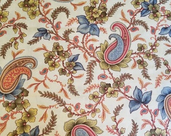 Antique floral and paisley fabric