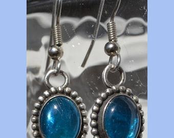 Neon Apatite Sterling Silver Earrings