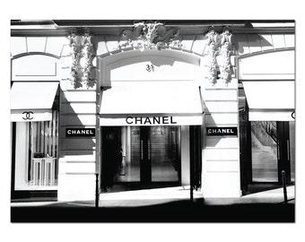 Chanel Paris Boutique Store Poster Print Coco Chanel Fashion Print Art Print - Chanel Store Chanel Shop Chanel Paris