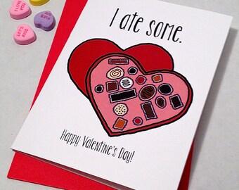 Drôle de Saint Valentin carte - carte de Forrest Gump - j'ai mangé quelques