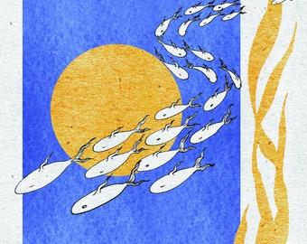 Fish Print various sizes