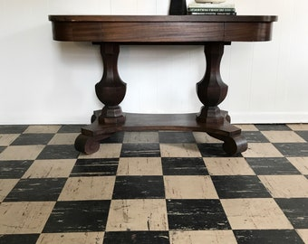 Antique Console Table Library Restoration Hardware Style farmhouse antiques traditional home decor