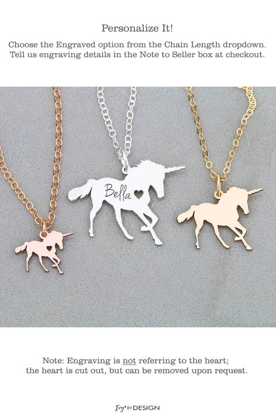 Unicorn Necklace Magical Unicorn Jewelry Sterling Silver