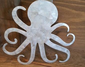 Hampton Art Galvanized Octopus
