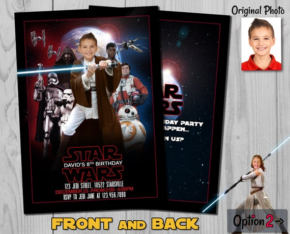 Star Wars Invitation - Star Wars Invite - The Last Jedi Birthday Invite - Star Wars - Luke Skywalker - Jedi Invitation - Jedi Invite