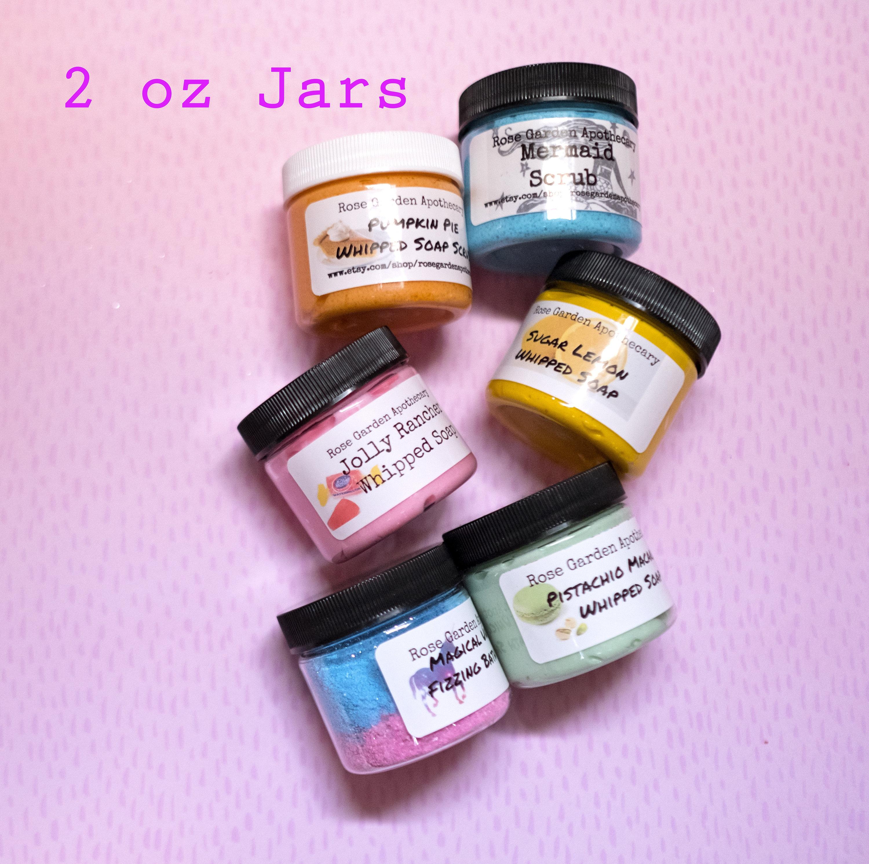 1 oz or 2 oz jars Whipped Soap Whipped Sugar Scrub